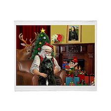 Santa's Bouvier Throw Blanket