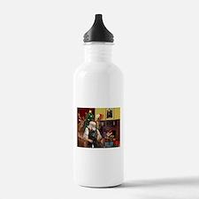 Santa's Bouvier Water Bottle