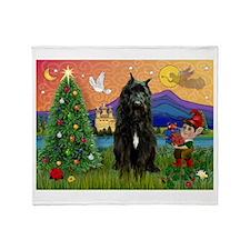 Bouvier Christmas Fantasy Throw Blanket