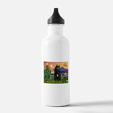 Bouvier Christmas Fantasy Water Bottle