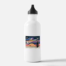 Xmas Star & Bouvier Water Bottle