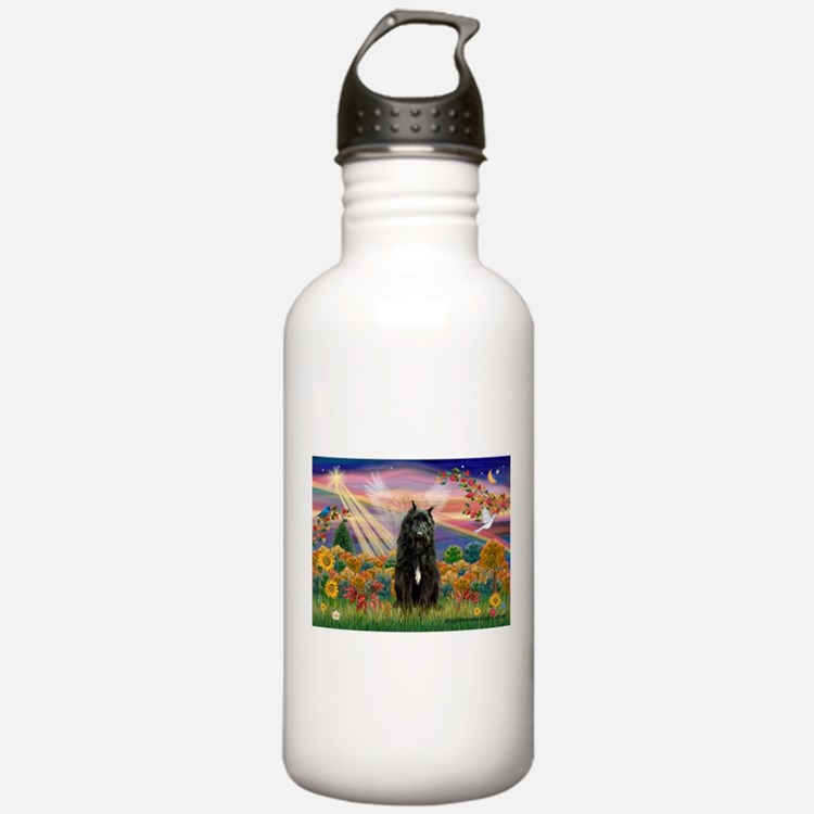 Autumn Angel/Bouvier Water Bottle