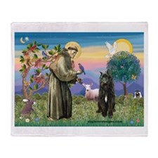 St Francis & Bouvier Throw Blanket