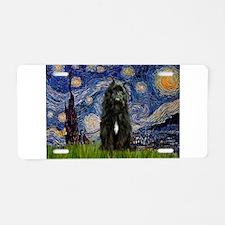 Starry Night Bouvier Aluminum License Plate