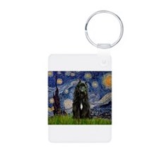 Starry Night Bouvier Keychains
