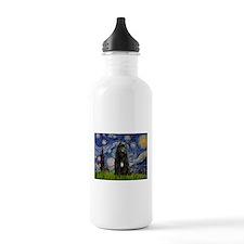 Starry Night Bouvier Water Bottle