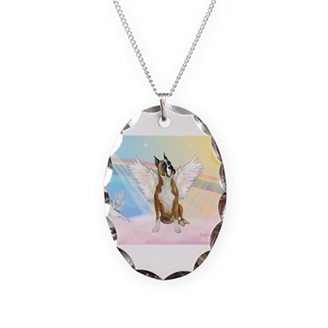 Angel / Boxer Necklace Oval Charm