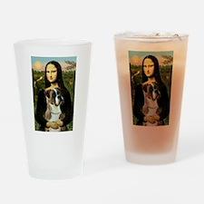 Mona Lisa & Boxer Drinking Glass