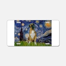 Starry Night & Boxer Aluminum License Plate