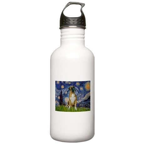 Starry Night & Boxer Stainless Water Bottle 1.0L