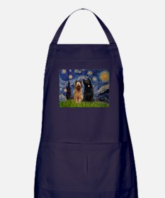 Cute Starry night van gogh Apron (dark)
