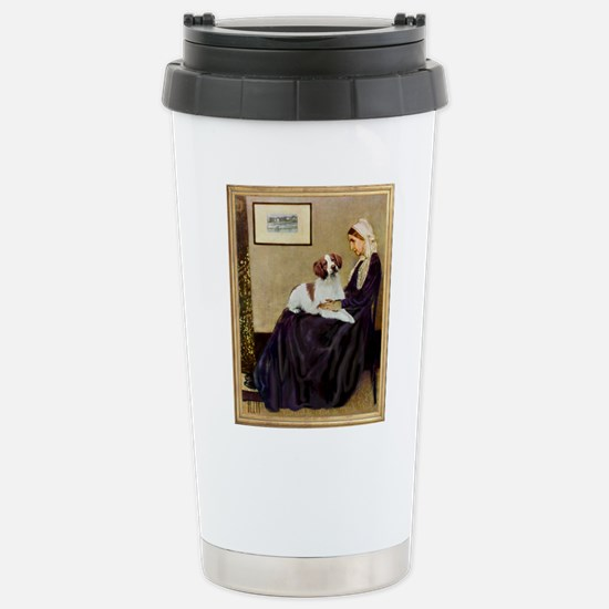 Mom and her Brittany Stainless Steel Travel Mug