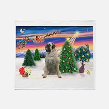 Take Off1/Bull Mastiff Throw Blanket