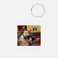 Santa's Bullmastiff #7 Keychains