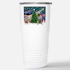 Xmas Magic/Bull Mastiff Travel Mug