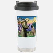 St Francis / Bullmastiff Travel Mug