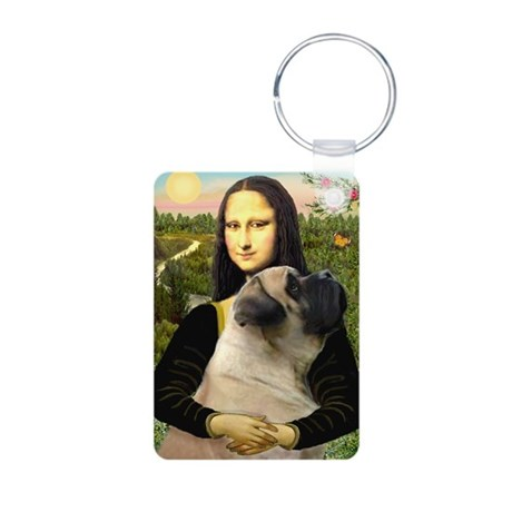 Mona's Bull Mastiff Aluminum Photo Keychain