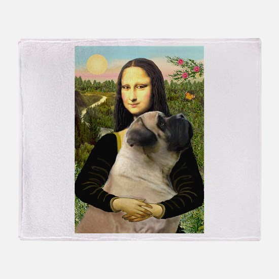 Mona's Bull Mastiff Throw Blanket