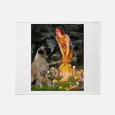Midsummer's Eve Mastiff Throw Blanket