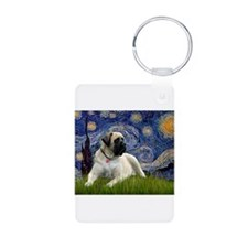 Starry Night Mastiff Keychains