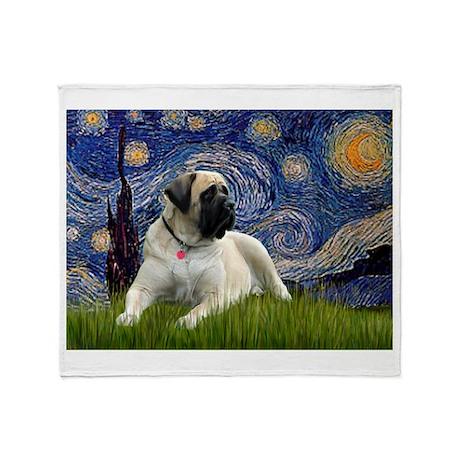 Starry Night Mastiff Throw Blanket
