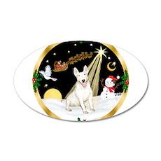 Night Flight/Bull Terrier 22x14 Oval Wall Peel