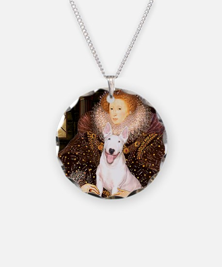 The Queen's Bully Necklace Circle Charm