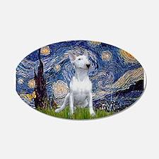 Starry Night/Bull Terrier 22x14 Oval Wall Peel