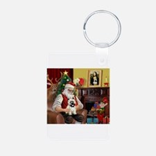 Santa's Cairn Terrier Keychains