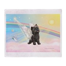 Clouds/Cairn Terrier Throw Blanket