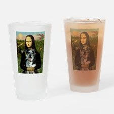 Mona /Catahoula Drinking Glass