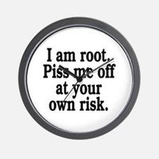 I am root Wall Clock