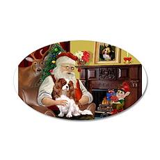 Santa's Cavalier (BL) 22x14 Oval Wall Peel