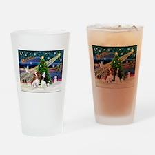 XmasMagic/2 Cavaliers Drinking Glass