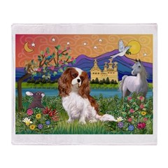 Fantasy Cavalier King Throw Blanket