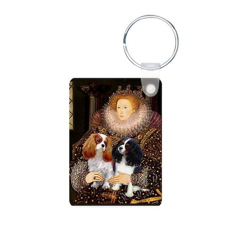 Queen / Two Cavaliers Aluminum Photo Keychain