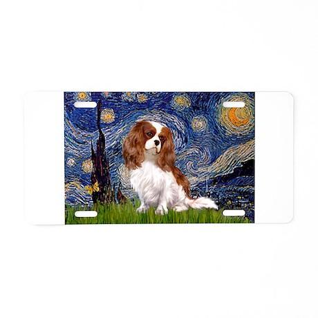 Starry Night Blenheim Aluminum License Plate