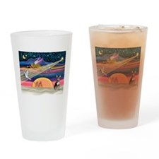XmasStar/Chih (bl) Drinking Glass