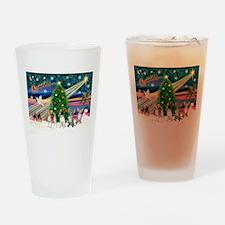 XmasMagic/Chihuahuas Drinking Glass