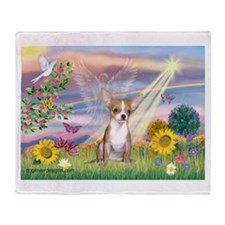 Cloud Angel & Chihuahua (1) Throw Blanket