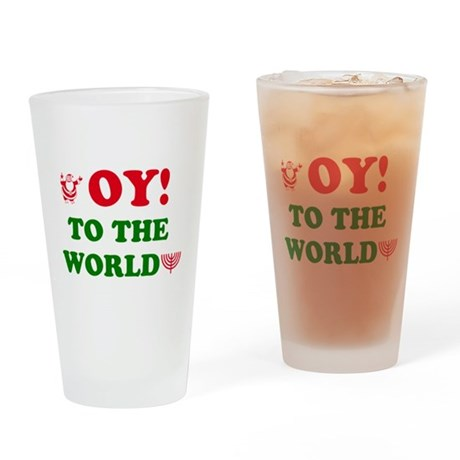 Oy to the World! Drinking Glass