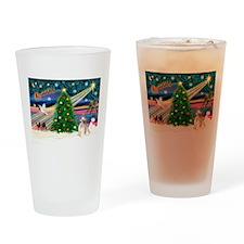 XmasMagic/Puff Crested Drinking Glass