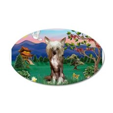 Pagoda/Chinese Crested 22x14 Oval Wall Peel