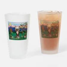 Pagoda/Chinese Crested Drinking Glass