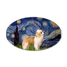 Starry Night/ Crested 22x14 Oval Wall Peel