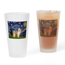 Starry Night/ Crested Drinking Glass