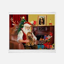 Santa's Cocker (bn) Throw Blanket