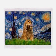 Starry Night/Cocker(#7) Throw Blanket