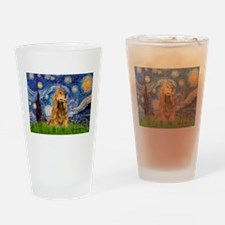 Starry Night/Cocker(#7) Drinking Glass
