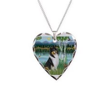 Birches / Collie (tri) Necklace